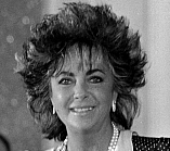 The American actress Elizabeth Taylor to American Film Festival of Deauville (Normandy, France) in September 1985