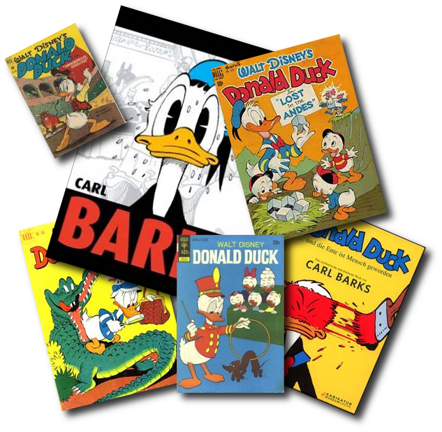 Covers verschiedener Donald Duck Comics