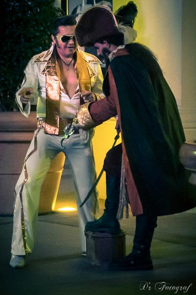 Elvis Strassenkünstler in Las Vegas