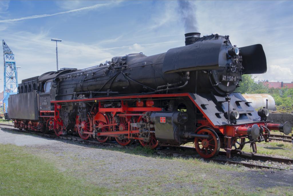 Dampflok 41 1150-6 im Bayerischen Eisenbahnmuseum
