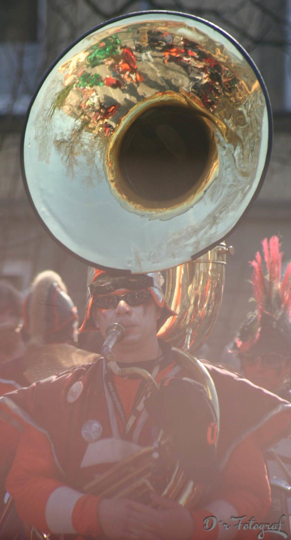 Tuba beim Fastnachtsumzug in Schwäbisch Gmünd