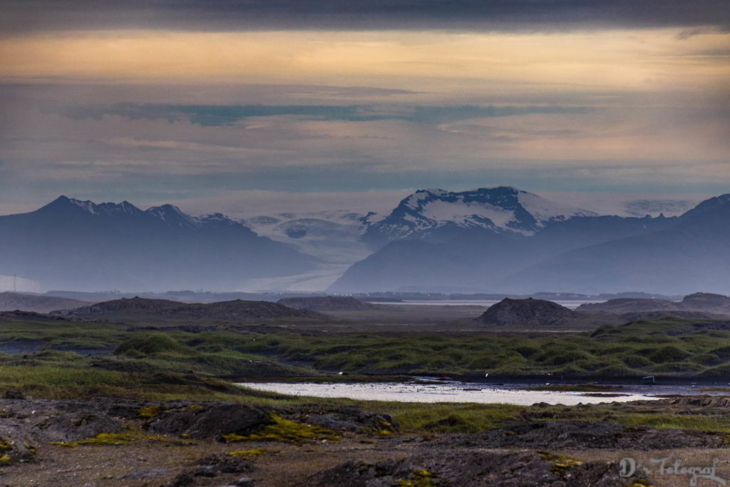 Snowy Iceland Mountains