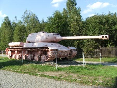 Sowjetischer IS-2 M44 im Militärmuseum Lešany (Tschechien)